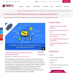 8 Technical tips for PHP Web Development every developer should follow