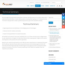 Best technical seminars in Bangalore, Technical seminars for engineering students in Bangalore