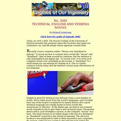 2682: Technical English and Verbing Nouns
