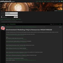 [Technical Talk] - FAQ: Environment Modeling & Resources