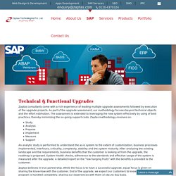 Technical & Functional Upgrades, SAP Software And Solutions, SAP Software