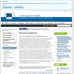 EUROPA_EU - Technical guidelines - Food contact materials technical guidance documents