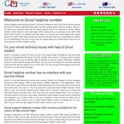 Gmail Technical Helpline Center Number 1-888-269-0130