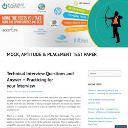 Technical Interview Questions and Answer – Practicing for your Interview
