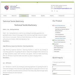 Technical Textile Machinery