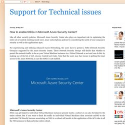 How to enable NSGs in Microsoft Azure Security Center?