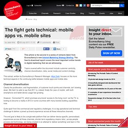 The fight gets technical: mobile apps vs. mobile sites
