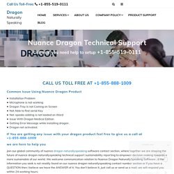 Nuance Dragon Technical Support - Dragon NaturallySpeaking