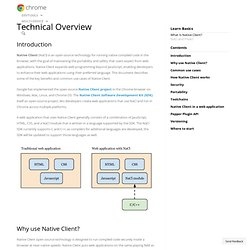 Technical Overview - Native Client