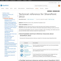 Technical reference for Office SharePoint Server 2007