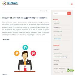 The 3Ps of a Technical Support Representative