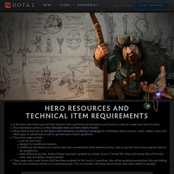Dota 2 Workshop - Technical Requirements