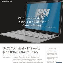 PACE Technical - IT Service for a Better Toronto Today