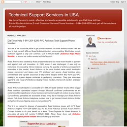 Technical Support Services in USA: Dial Tech Help 1-844-204-9299 AVG Antivirus Tech Support Phone Number