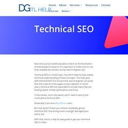 Technical SEO - Setup Your Website, Step By Step
