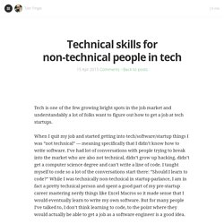 Technical skills for non-technical people in tech