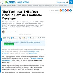 The Technical Skills You Need to Have as a Software Developer