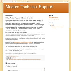 Modem Technical Support: Billion Modem Technical Support Number