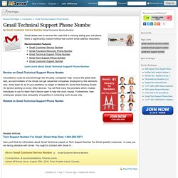 Gmail Technical Support Phone Numbe Review by Gmail Customer Service Number