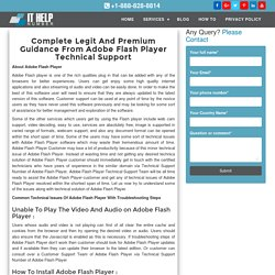Adobe Flash Player Customer Service