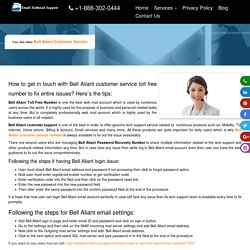 Bell Aliant Technical Support