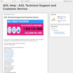 AOL Help - AOL Technical Support and Customer Service: AOL Technical Support and Customer Service