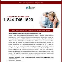 Adobe Slate 1-844-745-1520 Technical Support & Helpline Number