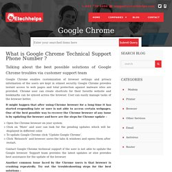 Google Chrome Technical Support 1-844-738-4660 Helpline Number
