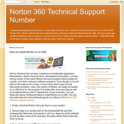 Norton 360 Technical Support Number: How to Install Norton on a USB