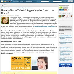How Can Norton Technical Support Number Come to the Rescue? by Jennifer William