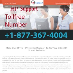 HP Technical Support Number @ +1-877-367-4004 - Call Now