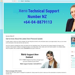 XERO Technical Support Number NZ +64-04-8879113: Get to know About the Latest Xero Personal Update