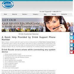 D-link Technical Support 1-888-738-4333 Phone Number