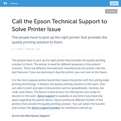 Call the Epson Technical Support to Solve Printer Issue