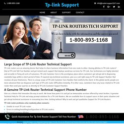 Tp link Technical Support