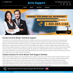 Arris technical support