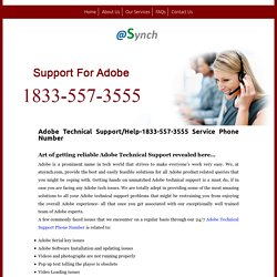 Adobe Technical Support 1-844-745-1520 Phone Number