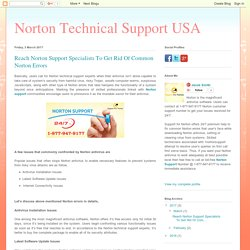 Norton Technical Support USA: Reach Norton Support Specialists To Get Rid Of Common Norton Errors