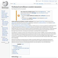 Technical surveillance counter-measures - Wikipedia