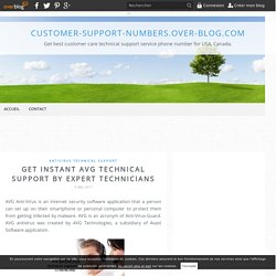 Get Instant AVG Technical Support by Expert Technicians - customer-support-numbers.over-blog.com