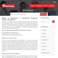 Windows 7 Technical Support
