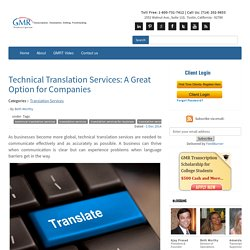 Technical Translation Services: A Great Option for Companies