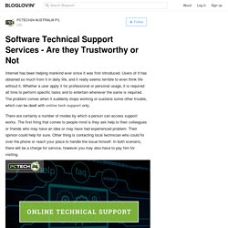 Software Technical Support Services - Are they Trustworthy or Not