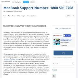 MacBook Technical Support when its warranty exceeded