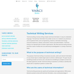 Technical Writing Services - Varci Media