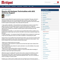 Resolve All Hardware Technicalities with AVG Antivirus Support