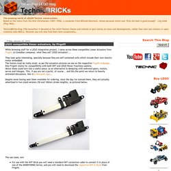 LEGO compatible linear actuators, by Firgelli