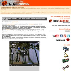 Week TechVideo, 2008 #12 - Theo Jansen (Kinetic Sculptor) creations, made with LEGO