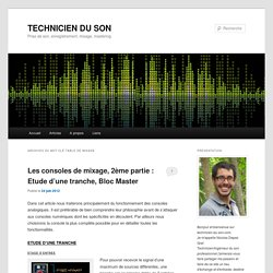 table de mixage Archives - TECHNICIEN DU SONTECHNICIEN DU SON