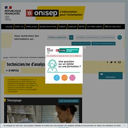 technicien / technicienne d'analyses biomédicales - Onisep